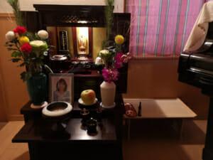 仏壇(2020年1月1日撮影)