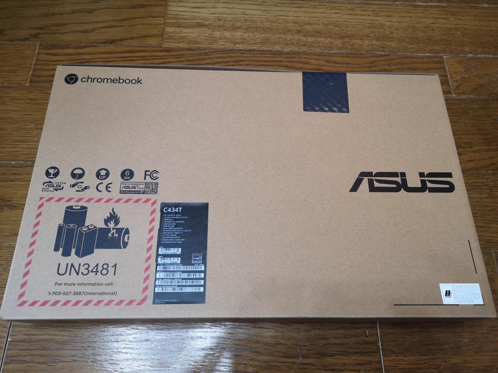 ASUS Chromebook Flip C434TA-AI0084 パッケージ