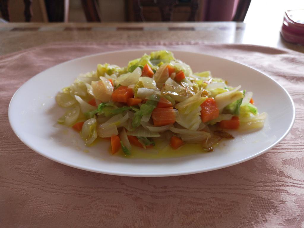 野菜のオイル蒸し
