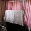 布を被せられた海水水槽